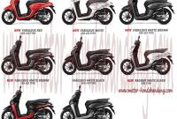 Pilihan Warna Motor Honda Genio